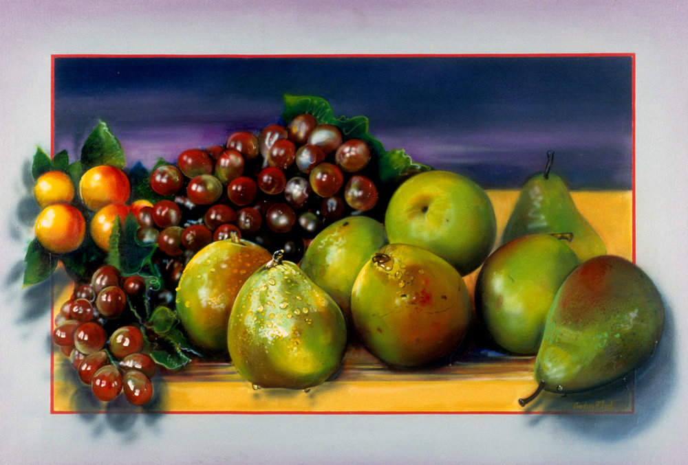 Flack_A Pear to Heade and Heal_1983_oil on acrylic and canvas.jpg