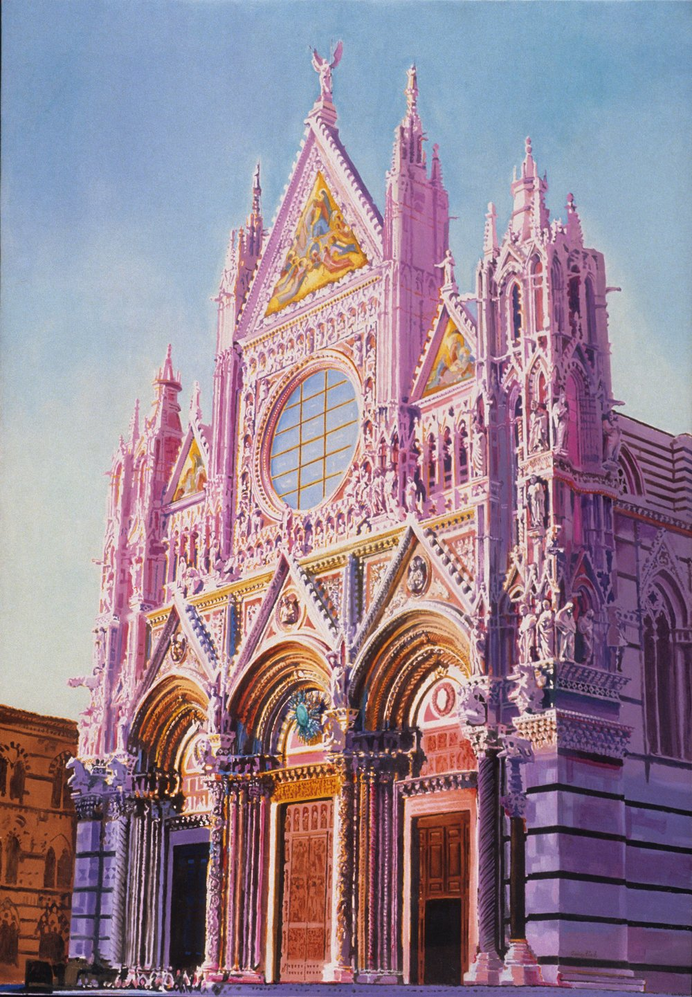 "Siena Cathedral, 1971, 66""x46"""