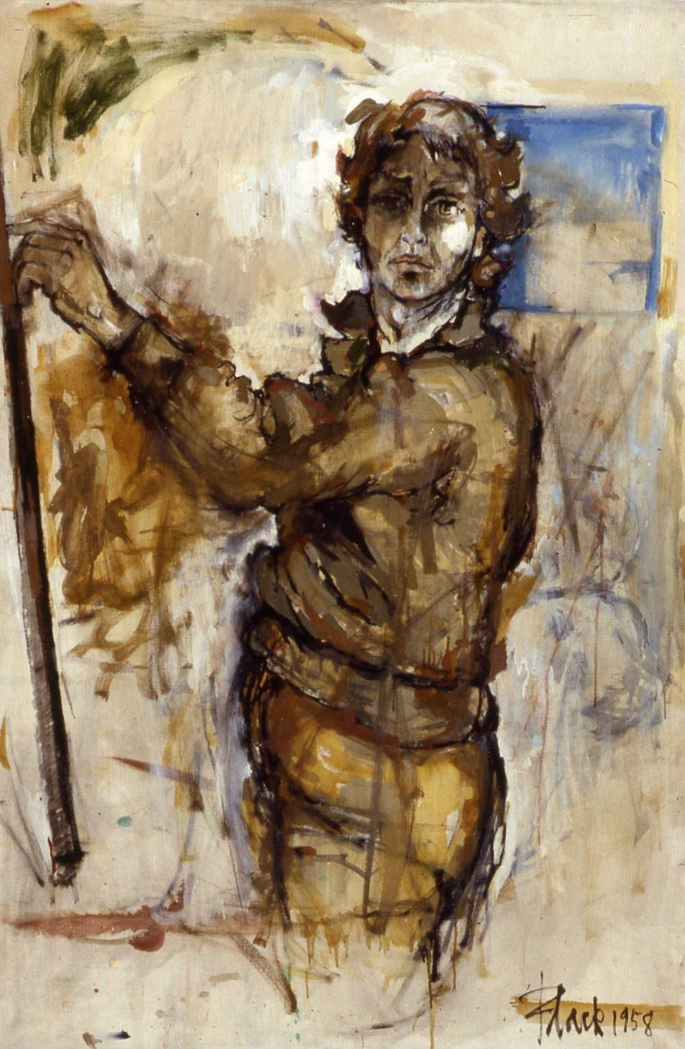 Self-Portrait (the Memory) 1958, 50x34""