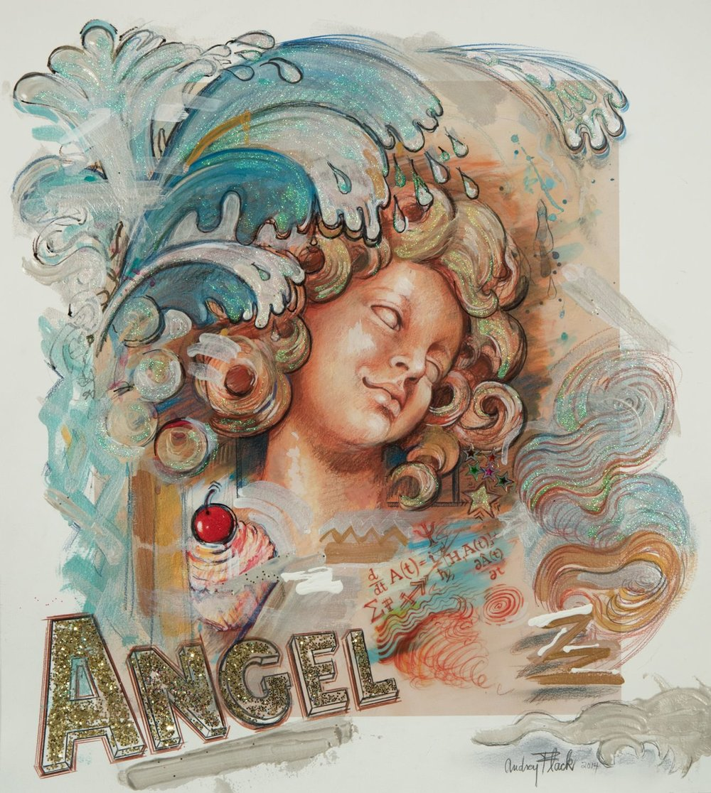 Cupcake Angel Splash, 2014-17 20x18""