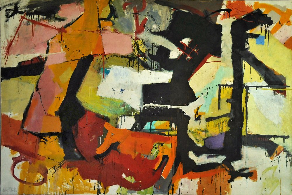 Abstract Force: Homage to Franz Kline, 1951-51, 49x72""