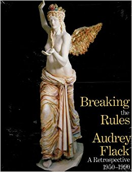 Breaking the Rules, hardcover published in 1992   Gouma-Peterson, an art historian at the College of Woostercq; actual name of the school in Ohio, has brought together seven essays devoted to various periods of Flack's career. Some 130 illustrations, 65 in color, illuminate the text, ably showcasing Flack's authoritative work in various media.