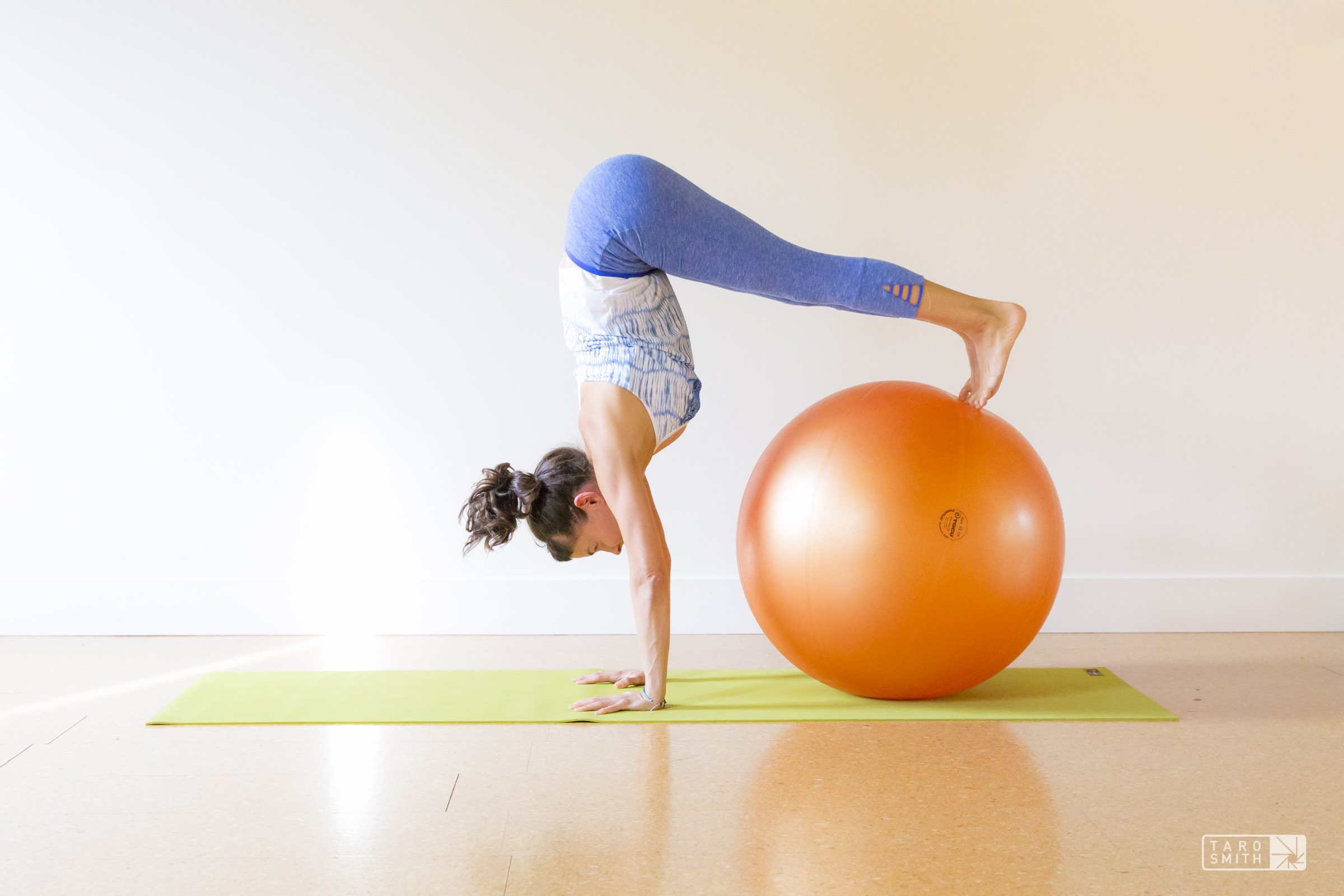 Yoga Moves On A Ball