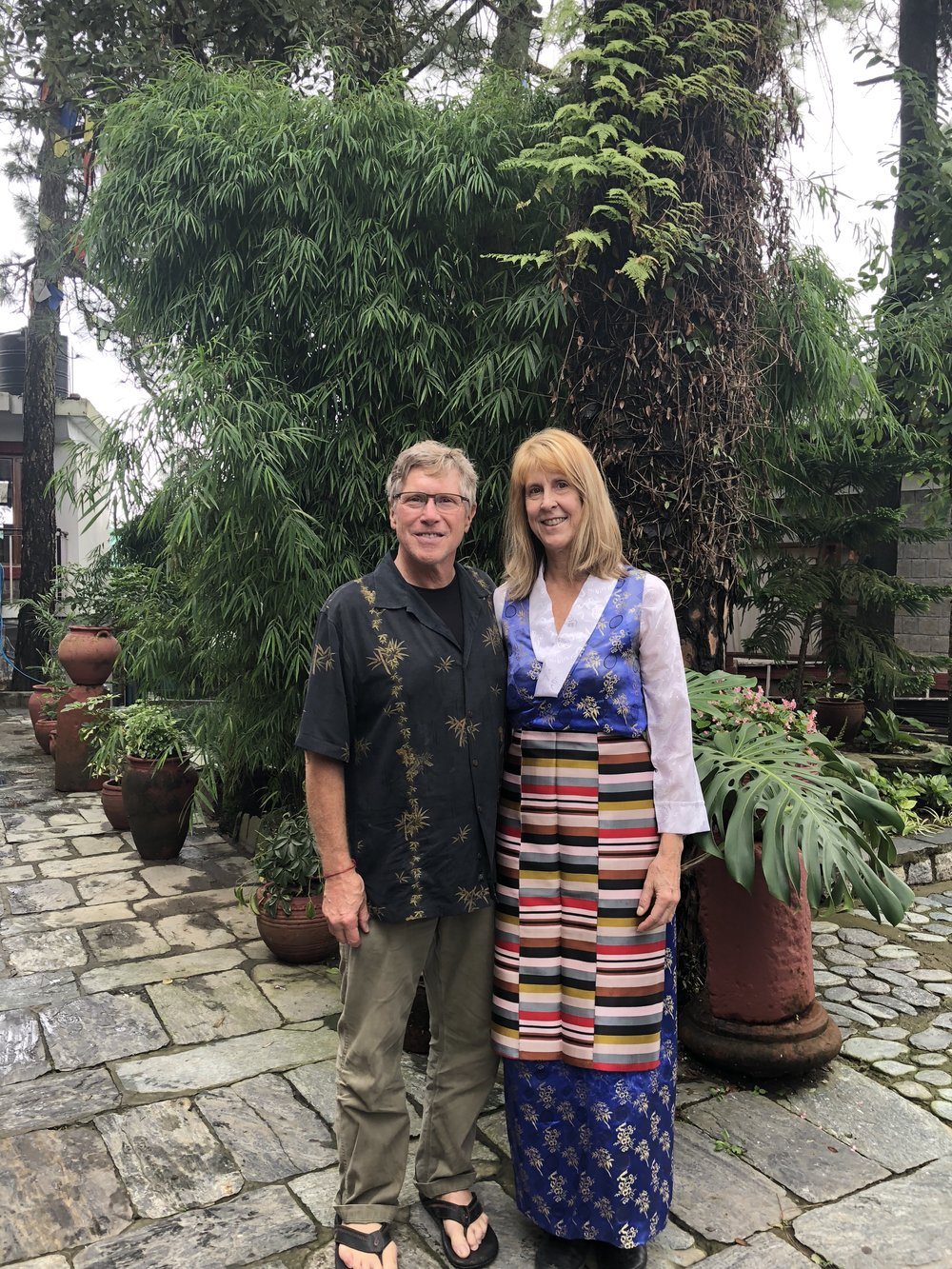 Home Comes Home: Russ visiting Cindy in Dharamsala