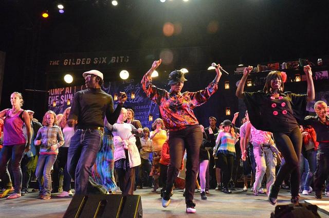 Audience members dance after  Spunk at Cal Shakes (Photo: Jay Yamada)