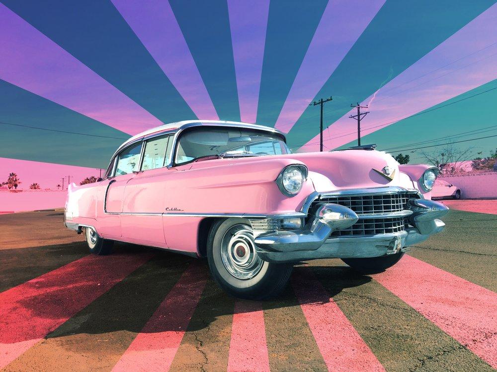 1955 Pink Cadillac