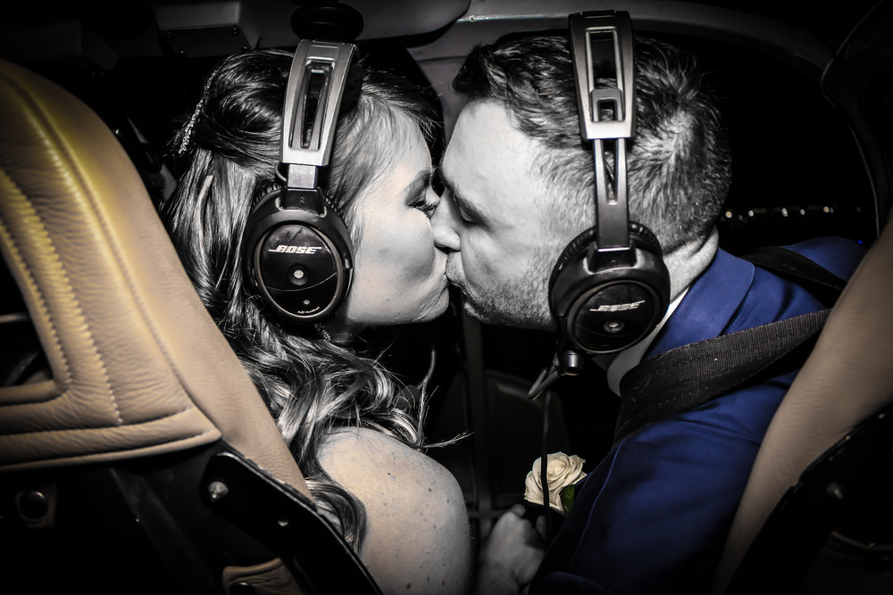 Helicopter wedding ceremony