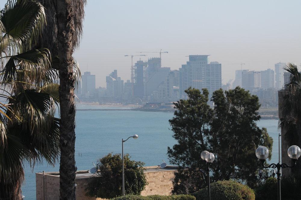 Looking from Jaffa back to Tel Aviv.