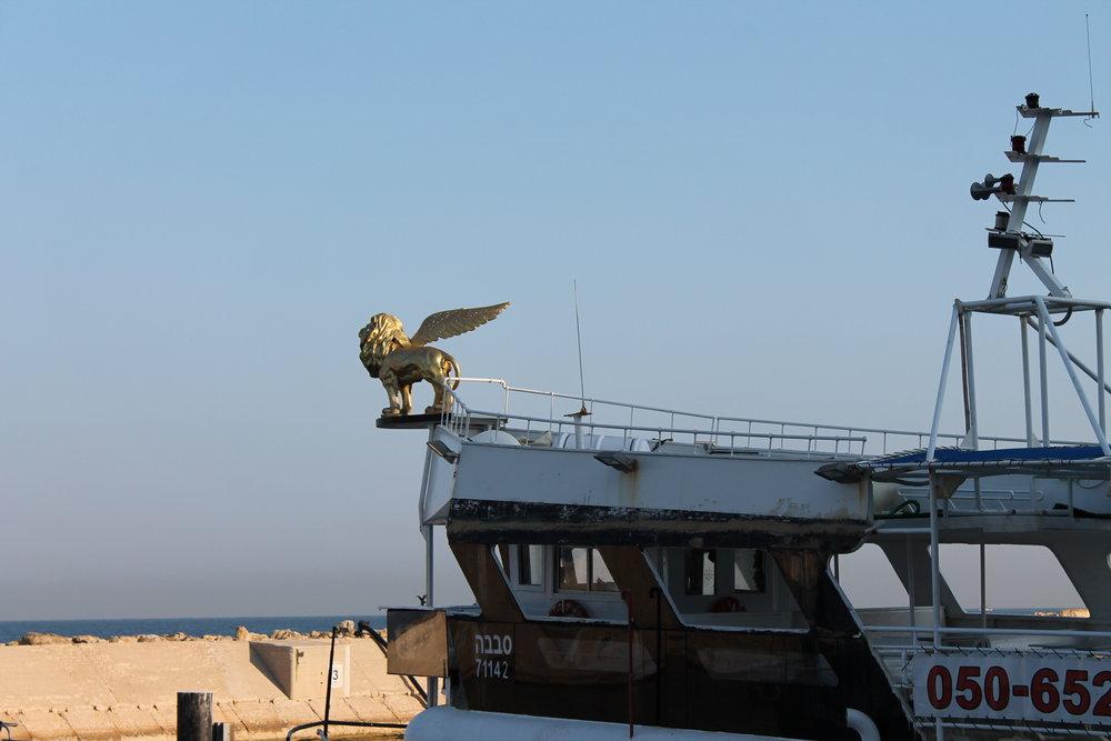 The harbor in Jaffa.