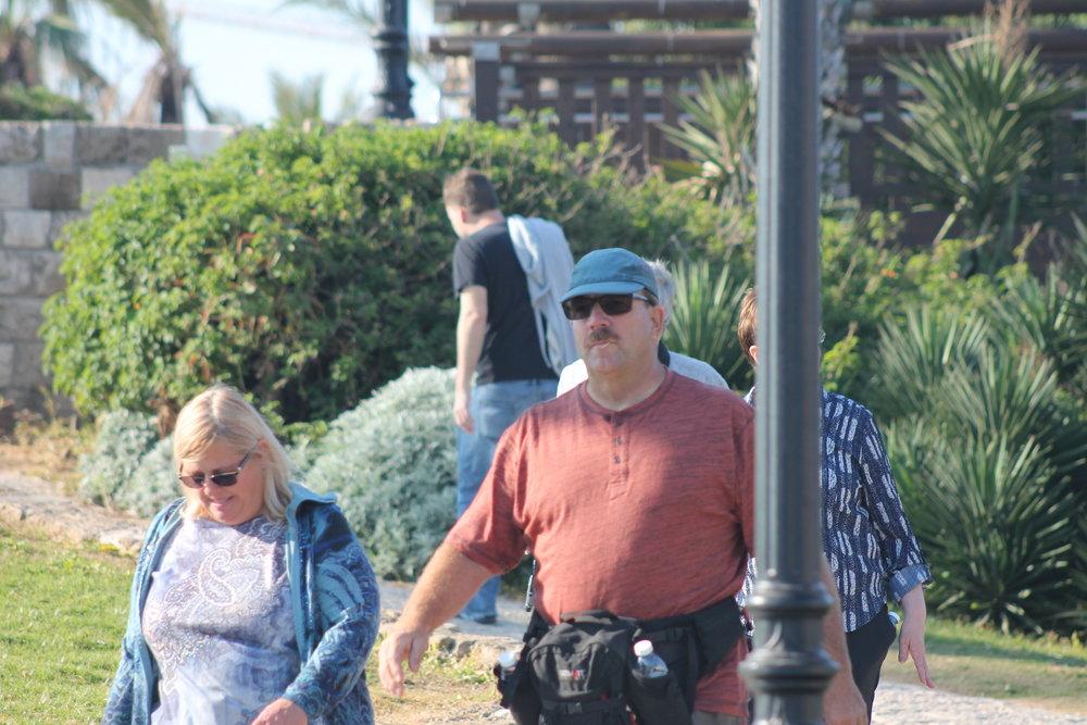 Tom and Debbie in Jaffa.