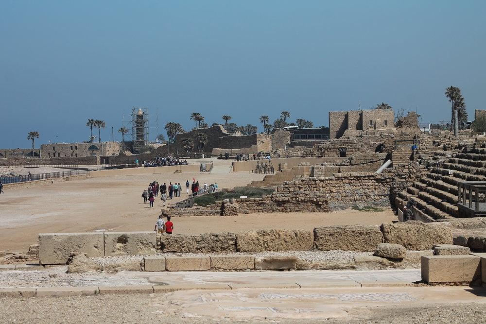 Herod's hippodrome for bloodsport at Caesarea Maritima.