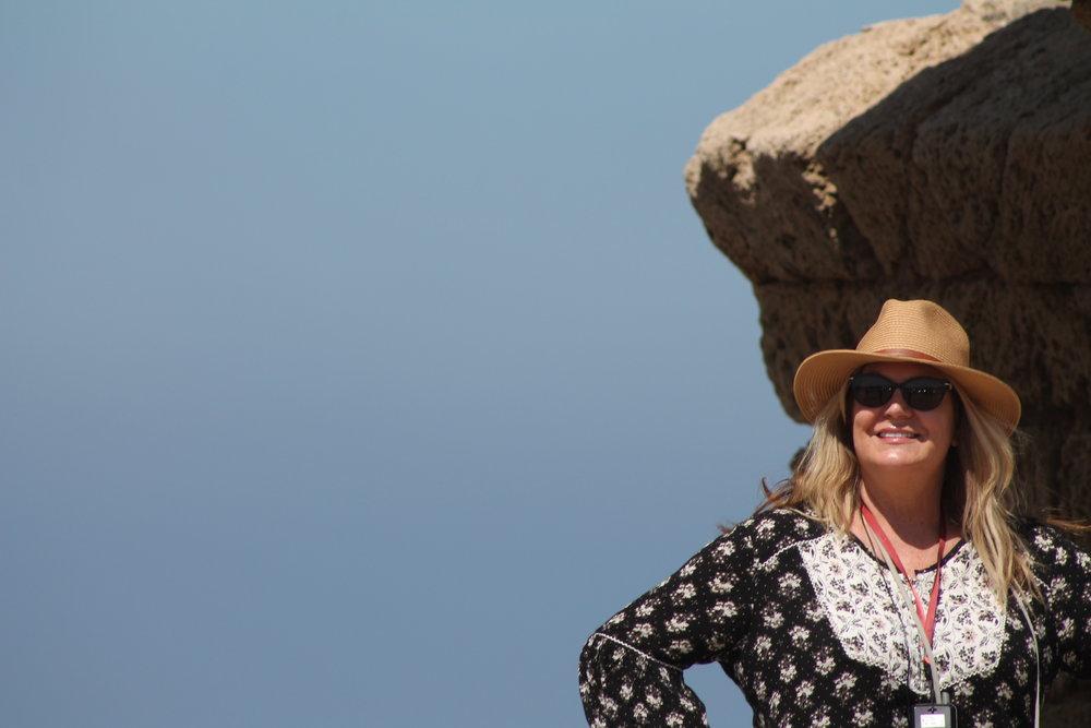Dena at Herod's aqueduct.