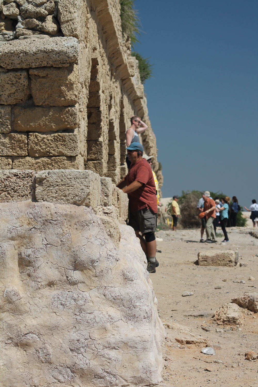Tom and Josh enjoying Herod's aqueduct.