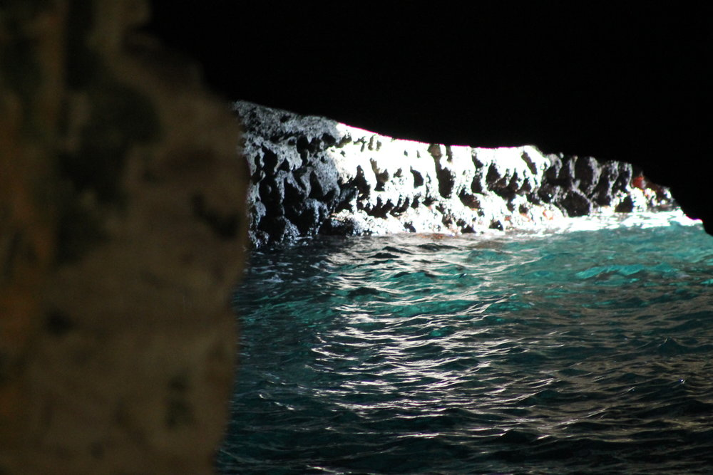 Beautiful grotto formed by the action of the Mediterranean Sea near Lebanon.
