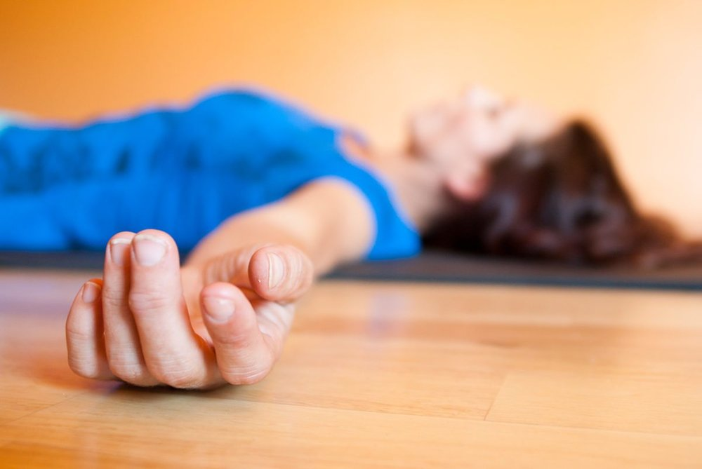 Corpse Pose - Each day, as we move closer to winter, we have the opportunity to preserve life by reconnecting to ourselves and honoring our inner space. Savasana, or corpse pose, is the recommended pose to end any yoga practice with, as this final resting pose helps us harvest the benefits of all our hard work. Lie down on your back with your hands by your hips, palms face up. Allow your toes to flop open and legs to relax. Close your eyes. Scan your body head to toe, using each breath as an opportunity to relax even more. Come into a state of deep relaxation. Stay for 10 to 15 minutes.