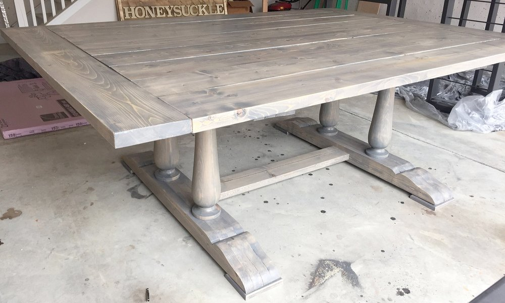 Double trestle spindle table.JPG