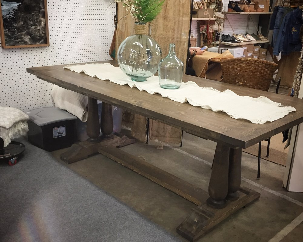 Double spindle trestle dining table.JPG