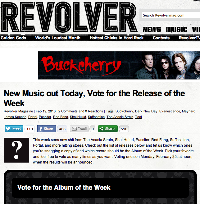 This is Hell are up for best release of the week on  Revolver Magazine's site , go vote for The Enforcer! Then  order your copy here .