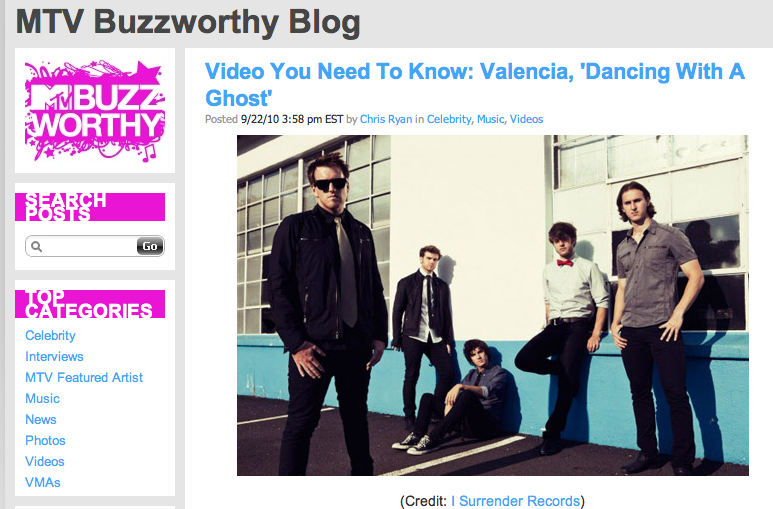 "MTV Buzzworthy has caught the beat and posted Valencia's mash-up video for ""Dancing With A Ghost"" as a ""Video You Need To Know"". If that's not incentive to check it out if you haven't already, I don't know what is! Let's take this Ghost video ultra-viral. Tweet Demi Moore (@mrskutcher) with the link: http://bit.ly/cLTE7l"