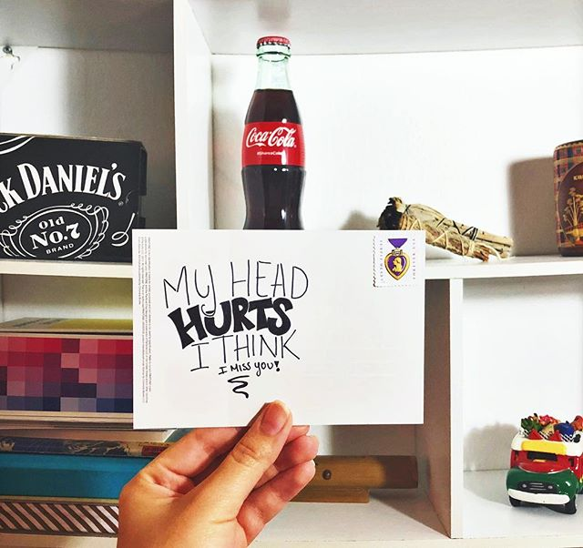 All the way to Perú! . . . . . . . . . . . . . . . . . #quotes #missyou #writersofinstagram #writers #postcards #postcardswap #postcardfromtheworld #cocacola #jackdaniels #headache #peru