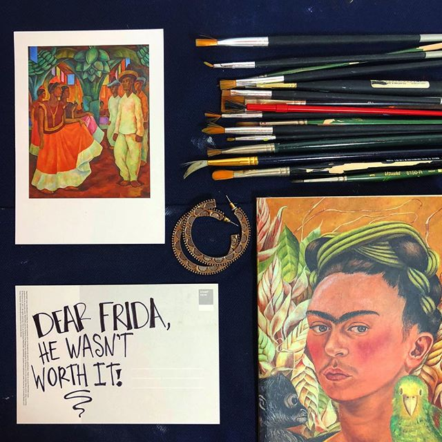 #Protectyoheart. . . . . . . . . . . . . . #fridakahlo #fridainspired #painting #noworthtit #postcards #postcardswap #quotes #writer #writersofinstagram #setups