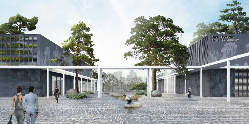 Architecture Museum forecourt