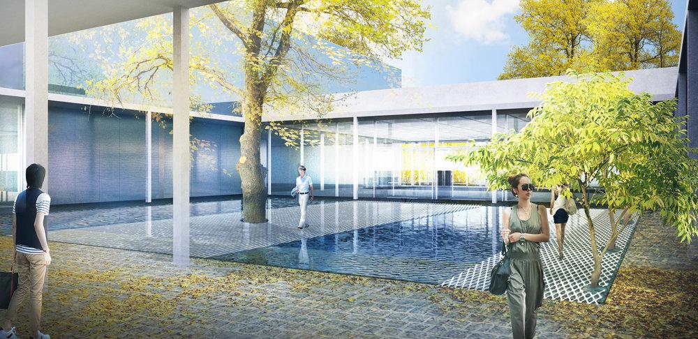 Design Museum forecourt