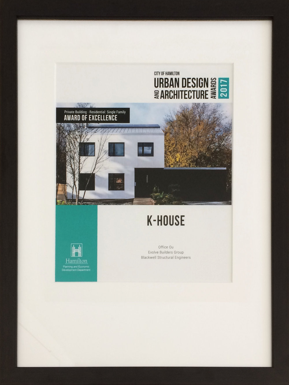 K-House wins City of Hamilton's 2017 Urban Design Awards