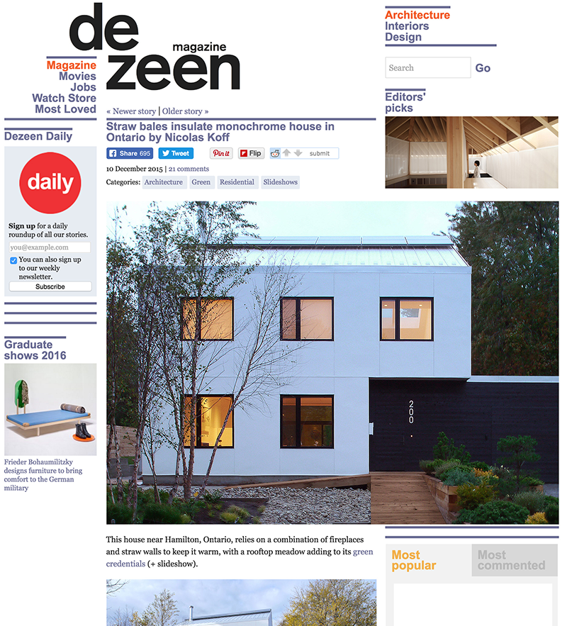 K-house published in Dezeen