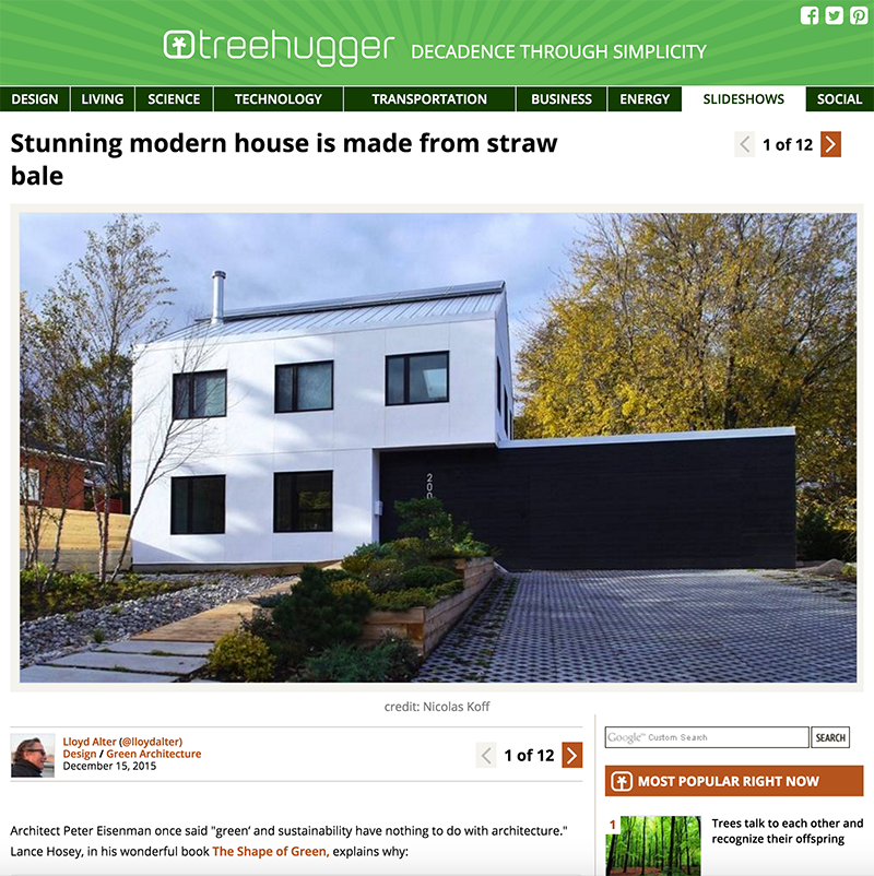 K-house published in Treehugger