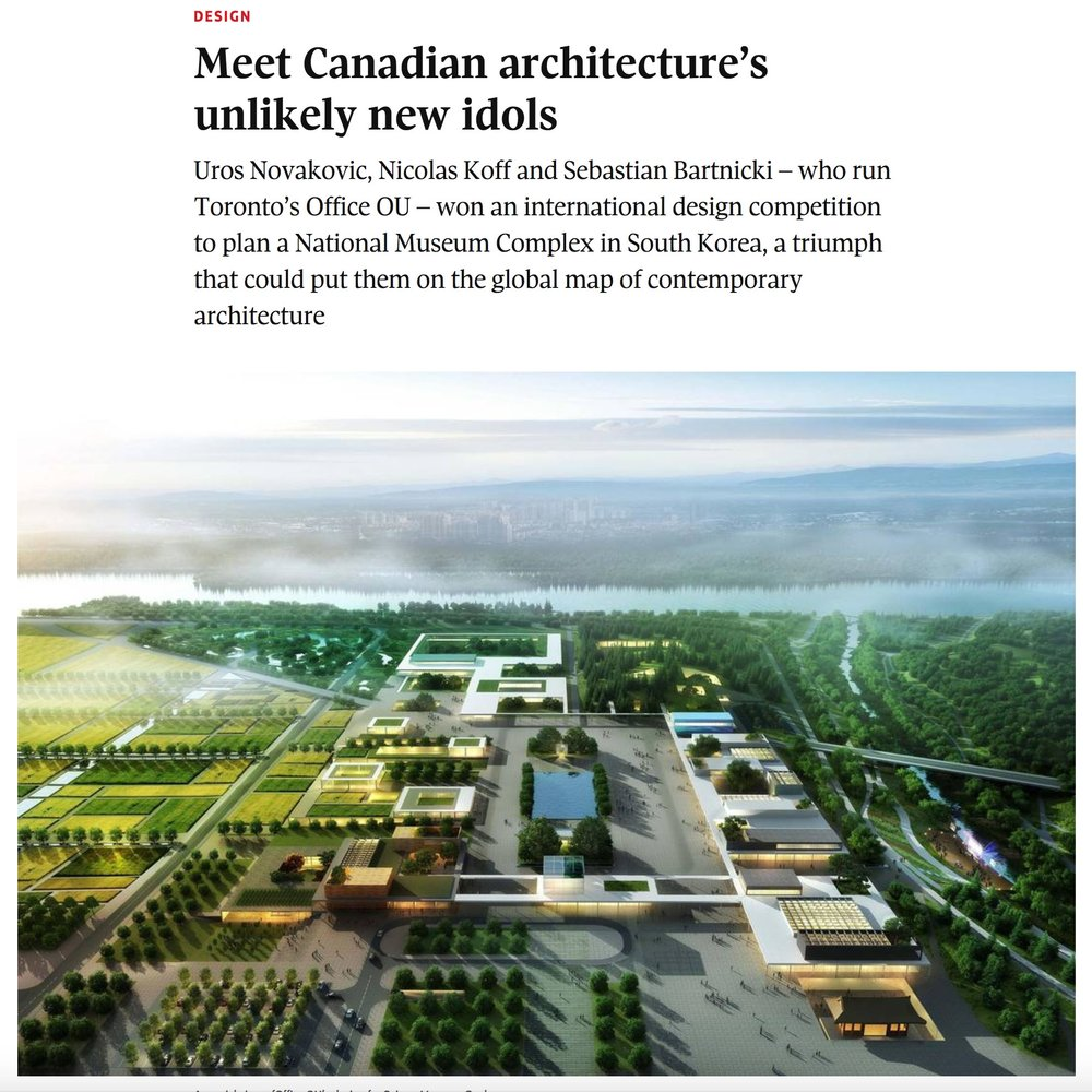 Office Ou featured in Globe and Mail