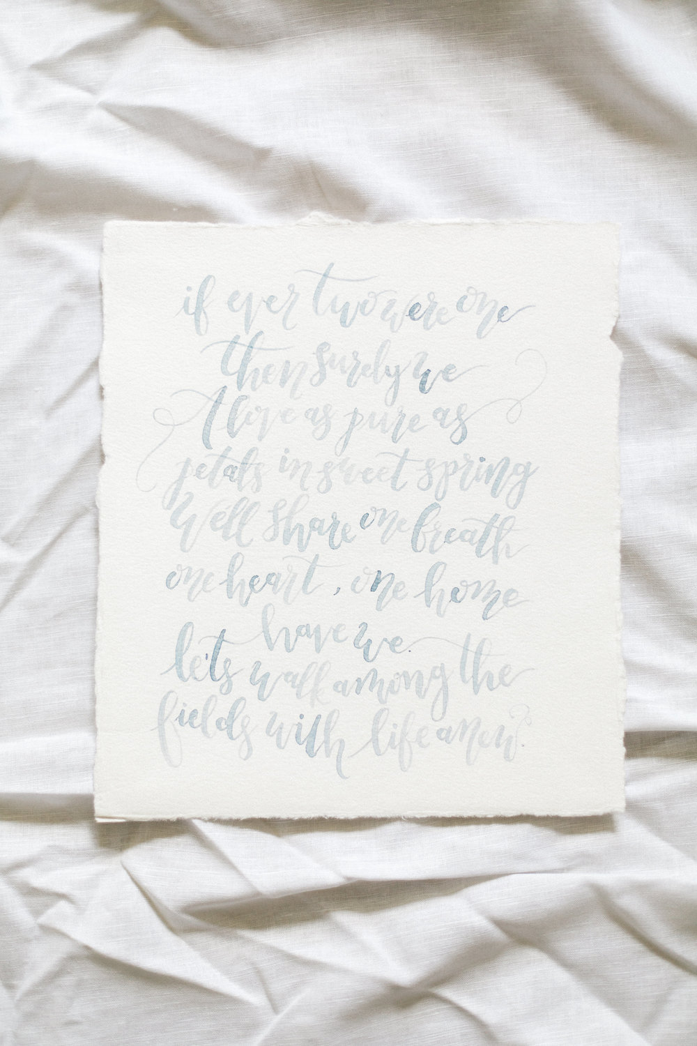 Cami Monet Watercolor Calligraphy | Custom Watercolor Wedding Vows | Orlando Calligrapher