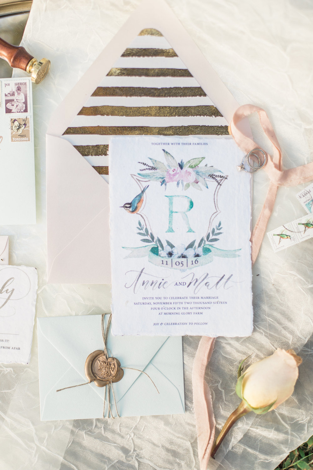 Custom Wedding Invitations — Cami Monet Watercolor & Calligraphy