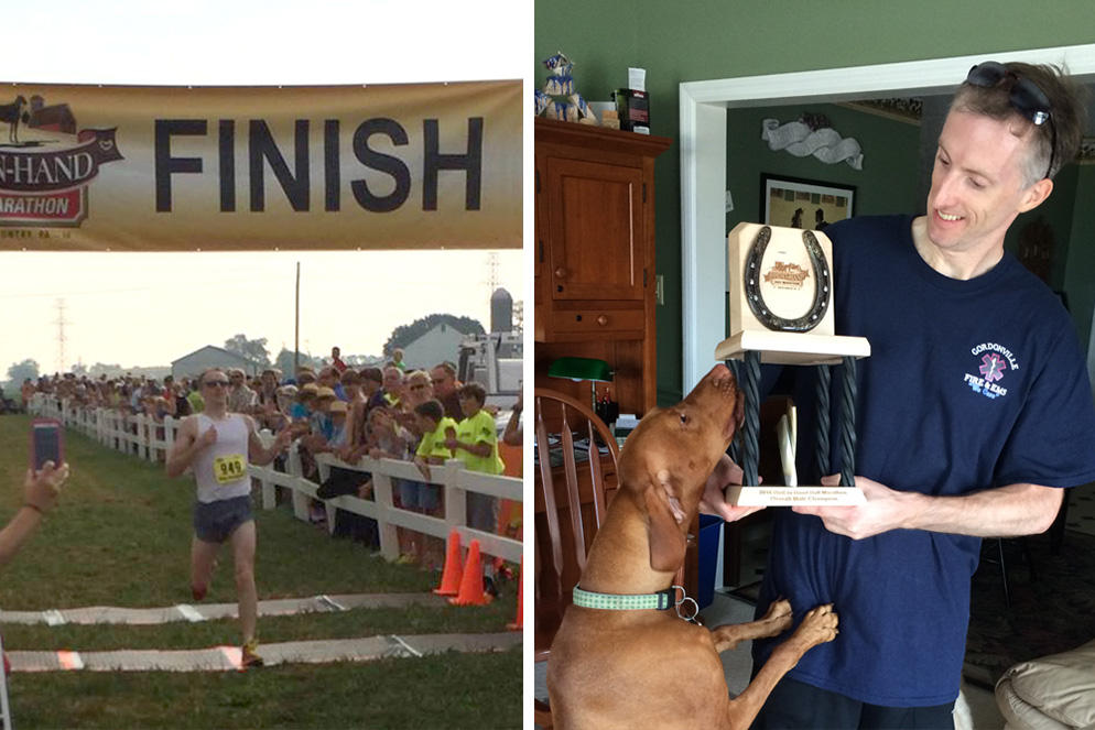 ER Doc Wins Race, Then Treats Ailing Runners - Dr. Randall Myers worked in the medical tent for three hours after running a 1:20 half marathon.