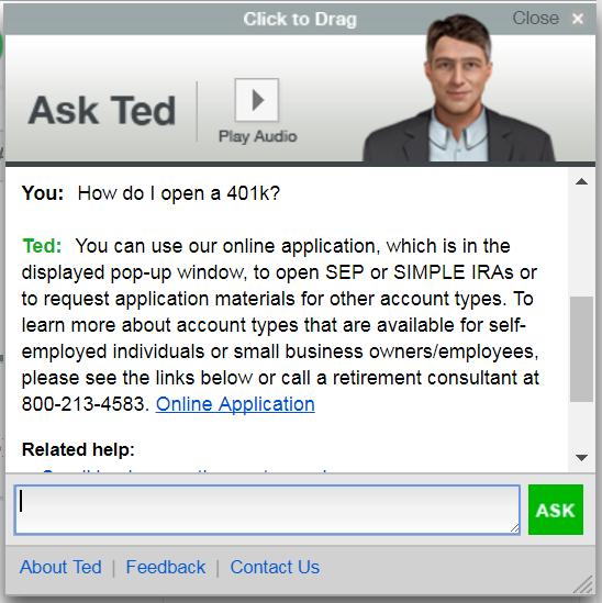 Ted: TDAmeritrade chatbot