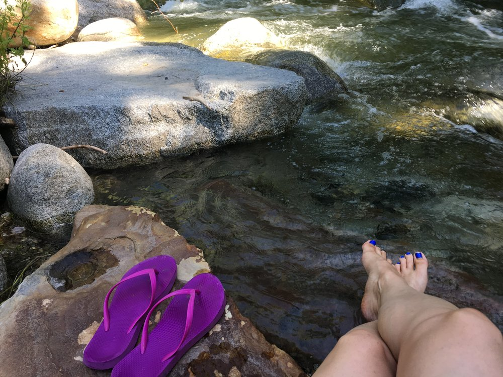 There was a creek right outside my door and it was heaven to dip my toes in and relax.