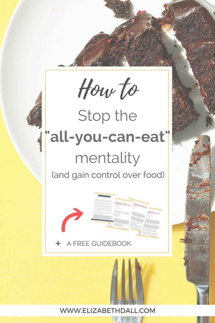 Do you feel yourself on a downward food spiral after you indulge? You tell yoursef you'll just have one, but then end up eating it all and feeling like a failure? If so, this post all about portion control, mindful eating, and helping you overcome emotional eating and the all you can eat mentality.