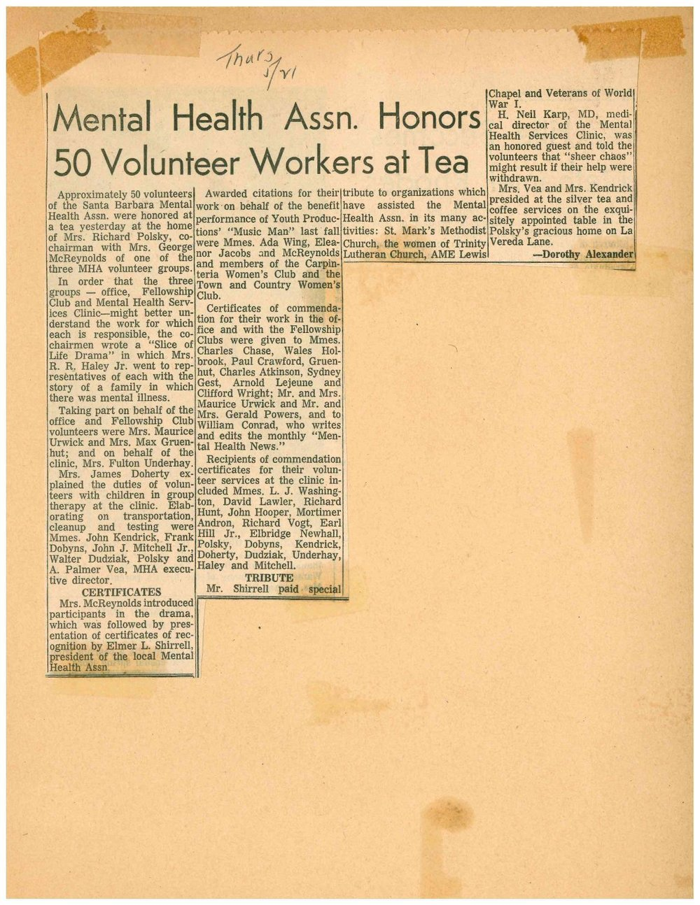 photo 30  newspaper article MH honors 50 volunteers 5.21.1964-page-001.jpg