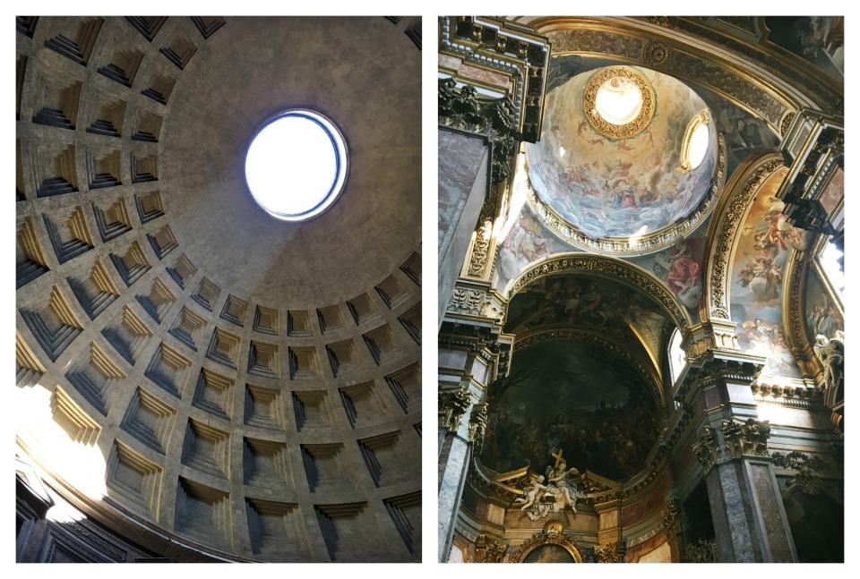 Pantheon is on the left, and my favorite church in Rome is on the right - Santa Maria Maddalena