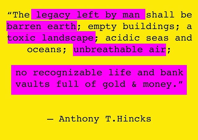 #ourlegacy barren #earth #toxiclandscape #unbreathableair #2067 #anthonythincks #techne #ahrc