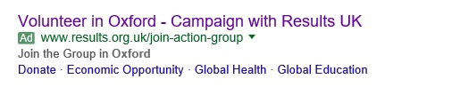 Google Ad Grant Volunteer