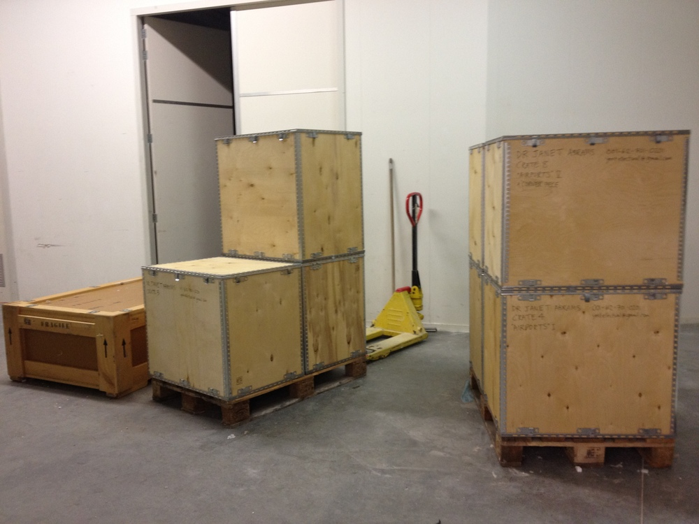 Crated for shipping