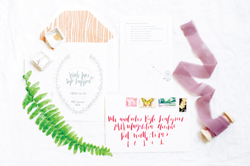 White Sparrow Barn Custom Wedding Invitations and Calligraphy