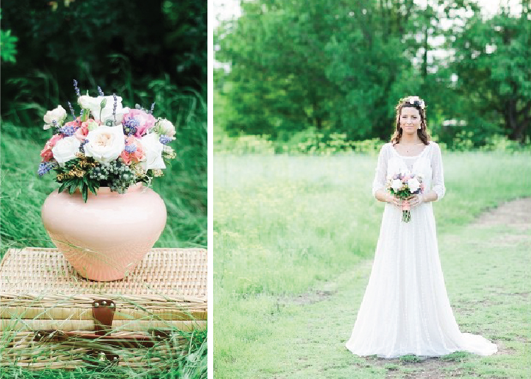 Bohemian wedding inspiration for Arbor Hills wedding.