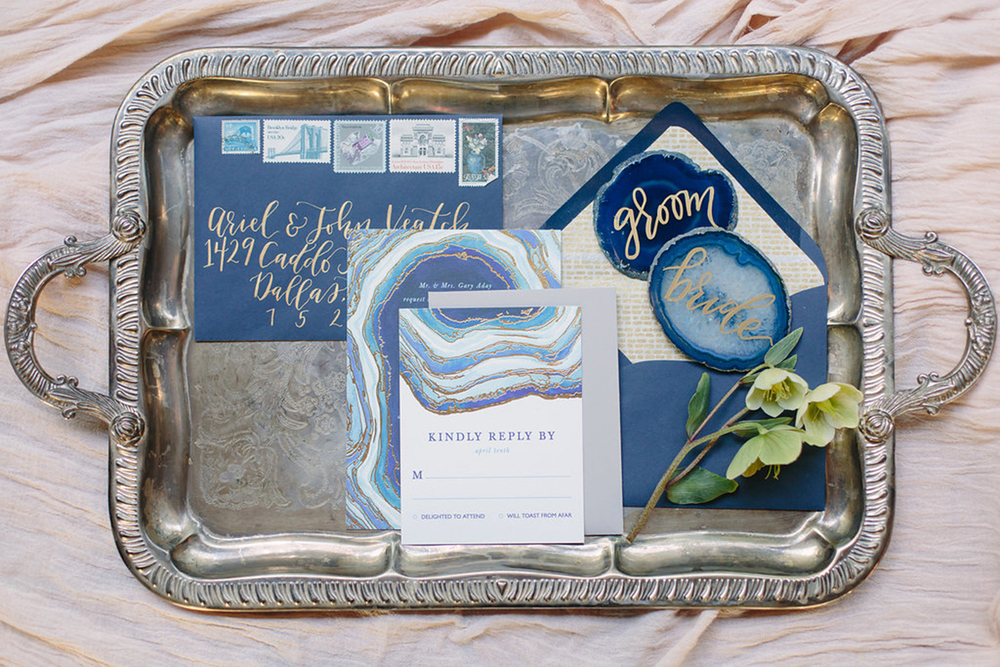 A great way to dress up your invitation suite is a  Custom Styled Envelope  set from Goldie Design Co! These invitations are by Minted, but how amazing is it paired with our styled envelope set?!