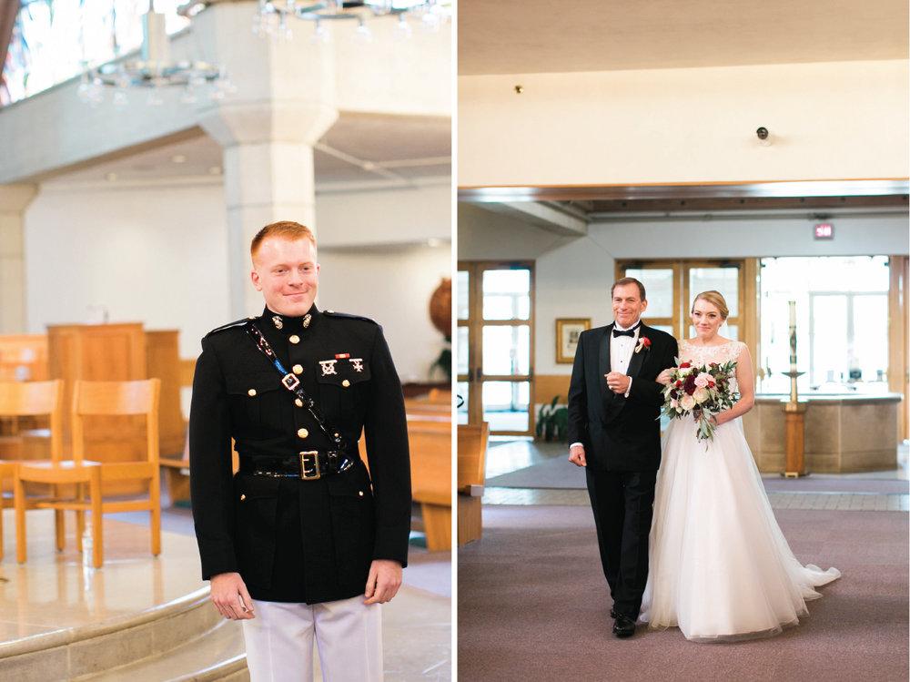 Dallas wedding at St. Rita Catholic Church