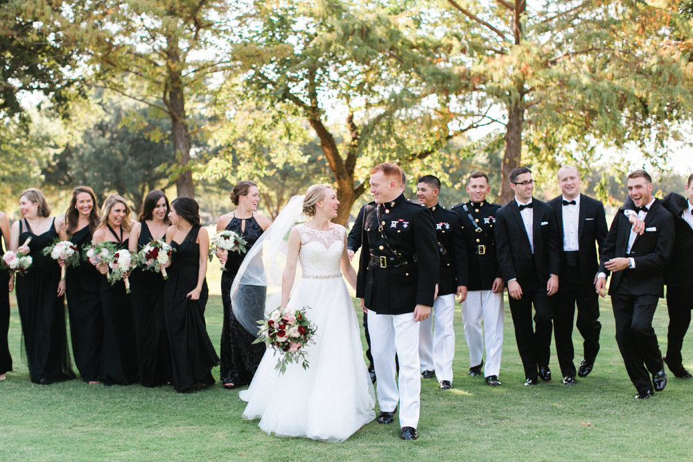 Black bridesmaids dresses all different styles shows so much personality!