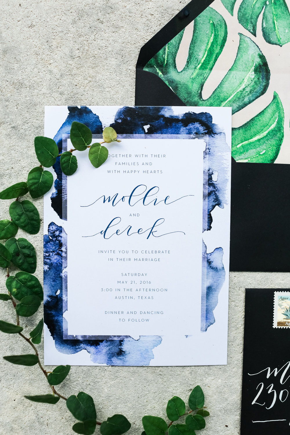1102 East Austin Wedding Invitations