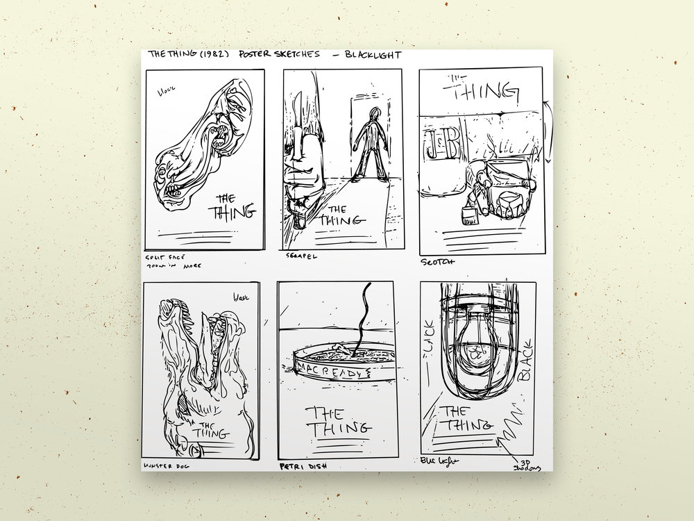 Concept Sketches for the Posters by  AJ Hanneld