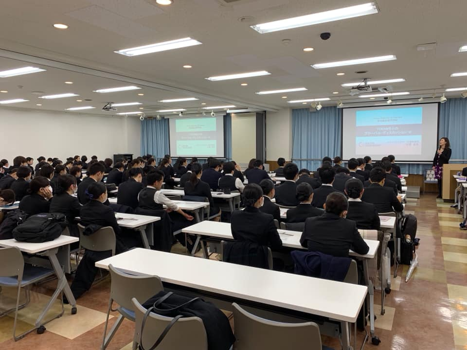 New York Career Academy, Inc. is proud to be an international education partner with Tokyo Institute of Tourism (Tokyo, Japan). Photo: Our CEO Naomi Osawa gave a lecture to 150 students in February 2019 on the importance of inter-cultural communications skills when developing a career connecting Japan and abroad.